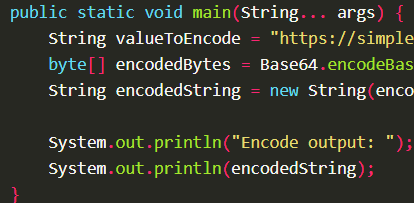 Encode byte array into Base64 format using Base64.encodeBase64() with Apache Commons Codec