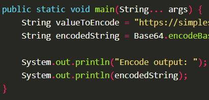 Encode a String into Base64 using Base64.encodeBase64String() with Apache Commons Codec