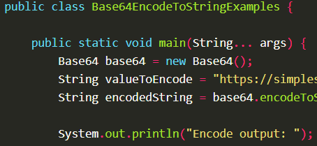 Encode a String into Base64 format using Base64.encodeToString() with Apache Commons Codec