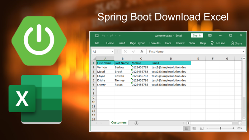 Video Spring Boot Web Application Download Excel File